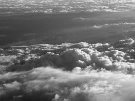 Over the clouds B&W